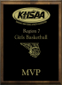 xxxKHSAA Basketball District/Regional All Tournament/MVP Plaques