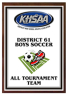 xxxKHSAA Soccer Color District/Regional All Tournament/MVP Plaques