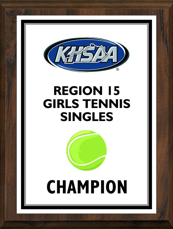 xxxKHSAA Tennis Color Regional All Tournament/MVP Plaques