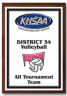 xxxKHSAA Volleyball Color District/Regional All Tournament/MVP Plaques
