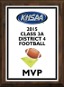 xxxKHSAA Football Color District/Regional MVP Plaques
