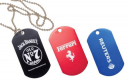 "2"" x 1-1/8"" Laser Engrave Dog Tag Medal with Chain - KT30X"