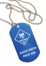 "2"" x 1-1/8"" Laser Engraved Cub Scout Dog Tag Medal with Chain - KT300-PWD"