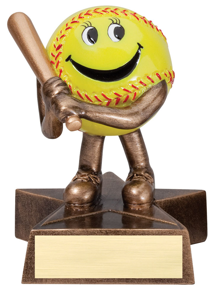 Softball Lil' Buddy Resin - LBR02