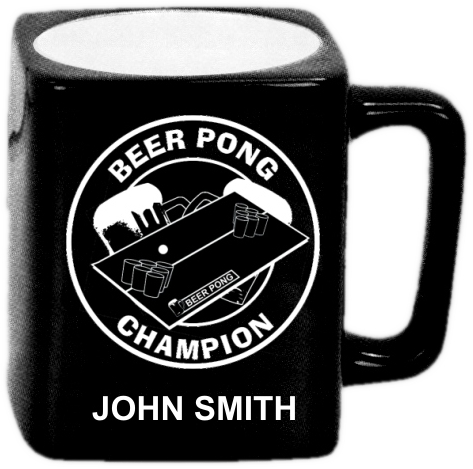 Laser Engraved Beer Pong Mug - LMUG-BP