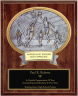 Male Basketball Oval Plaque - OP54505