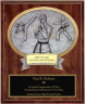 Male Karate Oval Plaque - OP54623