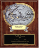 Bass Fishing Oval Plaque - OP54624