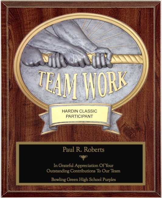 Teamwork Oval Plaque - OP54640