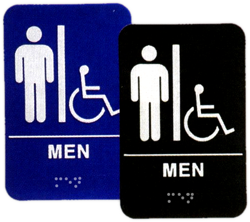 Men's Handicap Restroom ADA Sign - PADA101