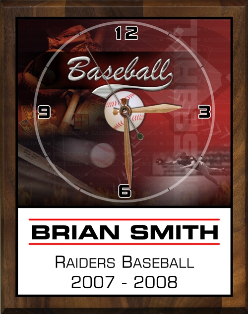 "8"" x 10"" Baseball Clock - PC810-BA"