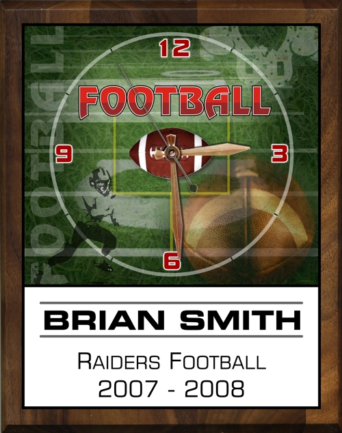 "8"" x 10"" Football Clock - PC810-FB"
