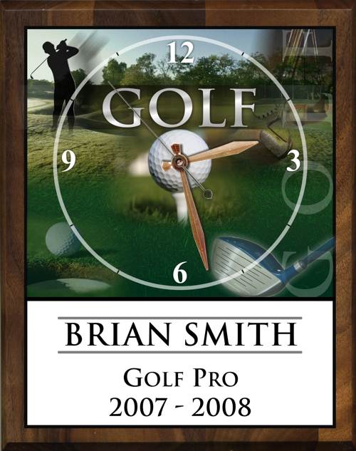 "8"" x 10"" Golf Clock - PC810-GO"