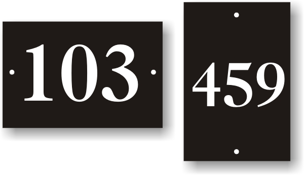 "2"" x 3"" Numbered Door Sign - PDN23"