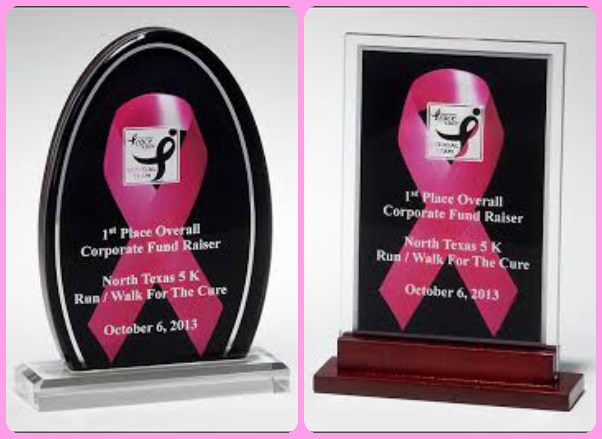 xxxPink Ribbon Awareness Acrylics - A69