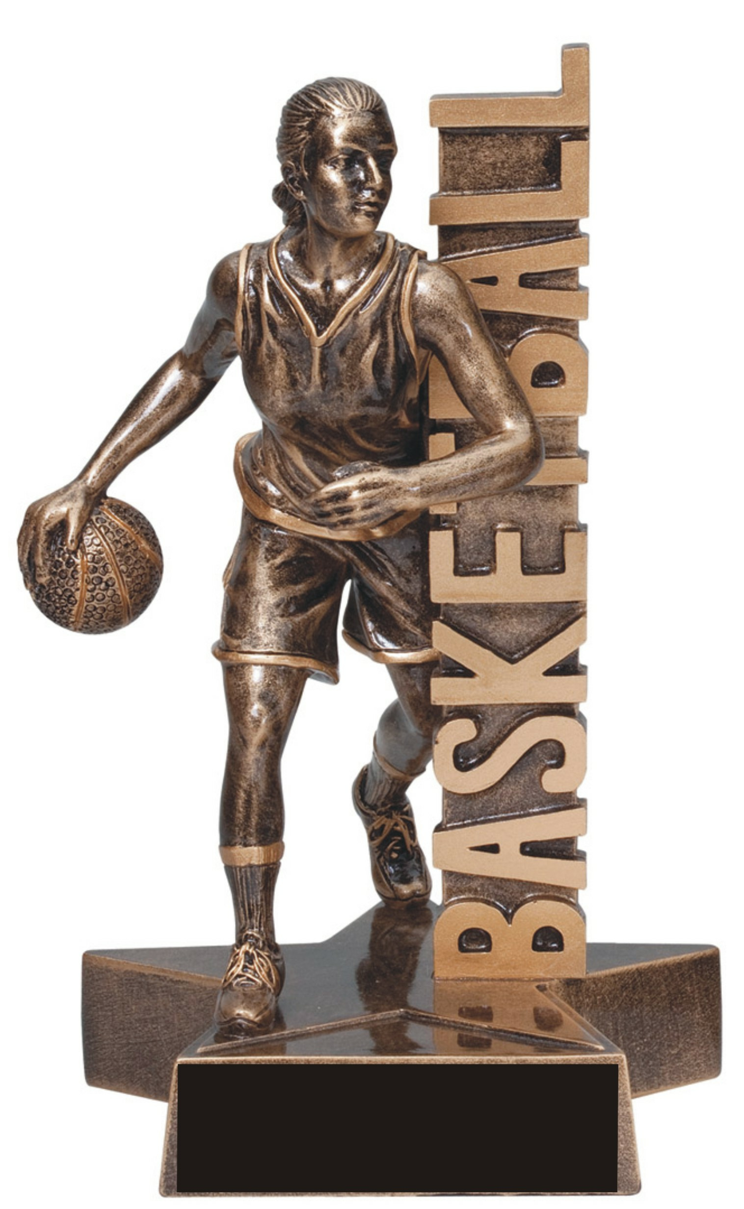 "6-1/2"" Female Basketball Superstar Resin 2 - RST204"