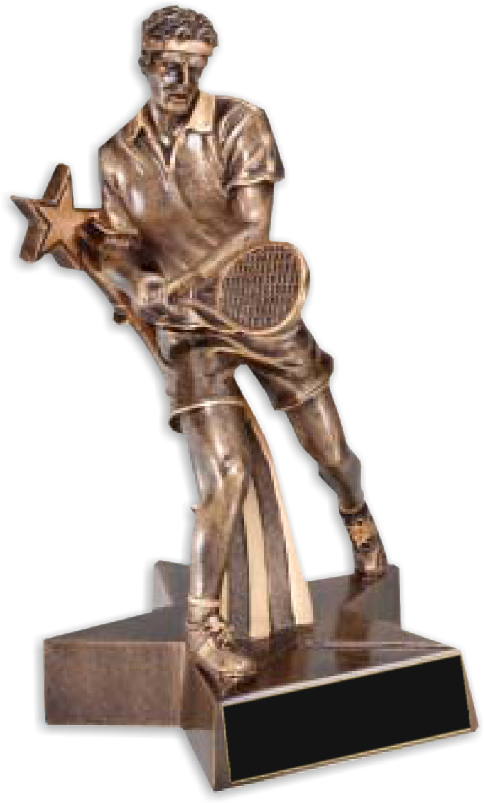 "8-1/2"" Male Tennis Superstar Resin - RST520"