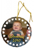 Round Doily Cermanic Color Imprinted Christmas Tree Ornament - SBL001