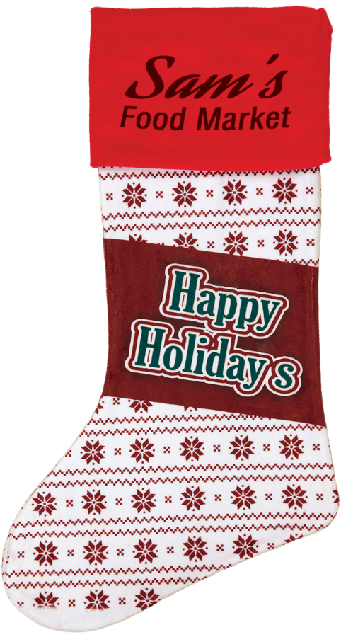 "15"" Color Imprinted Stocking - STK-1"