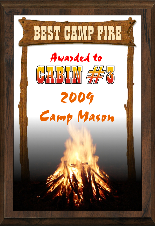 "5"" x 7"" Best Camp Fire Plaque - SP57-CAMP1"