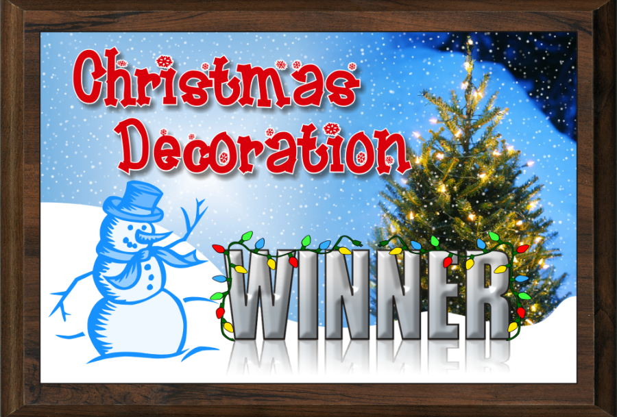 xxxColor Christmas Decoration Contest Plaque