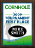 xxxColor Cornhole Plaque