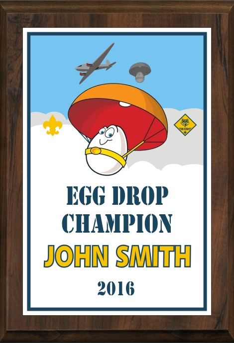 xxxCub Scout Color  Egg Drop Competition Plaque