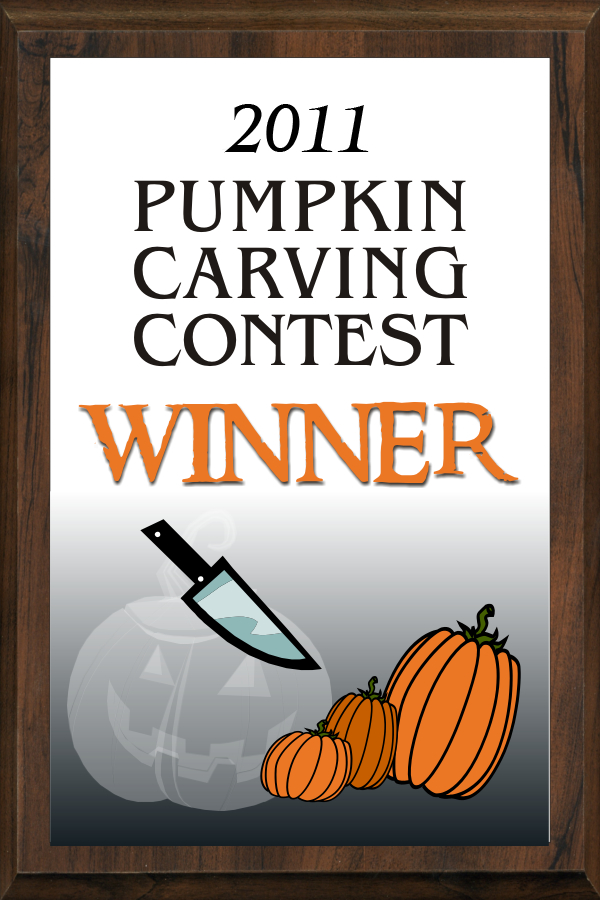 xxxColor Pumpkin Carving Contest Plaque