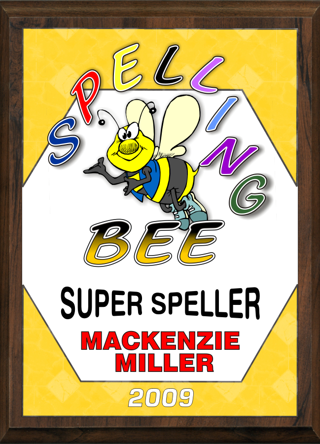 xxxSpelling Bee Plaque