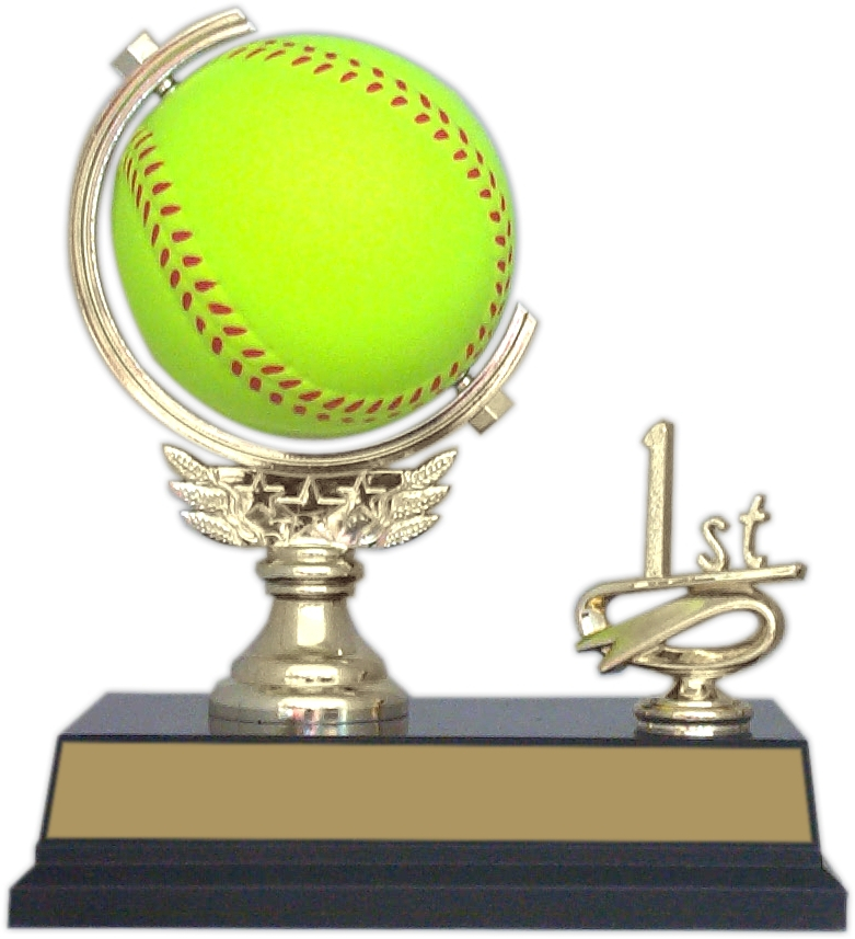 "6-inch ""Softball Spinner with Side Trim"" Trophy - SPN53-SB"