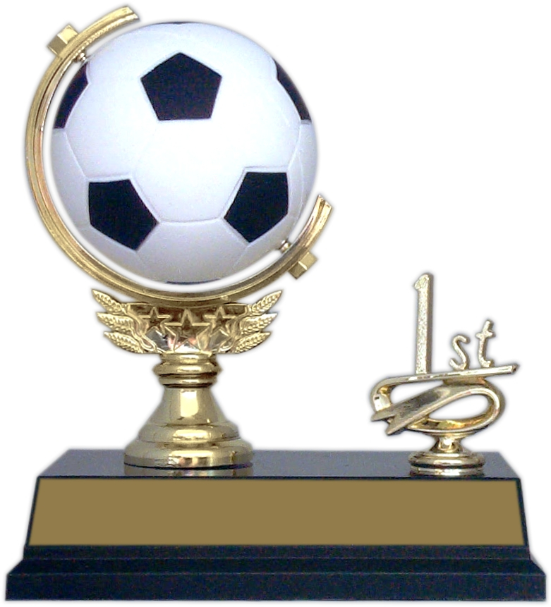 "6-inch ""Soccer Spinner with Side Trim"" Trophy - SPN53-SO"