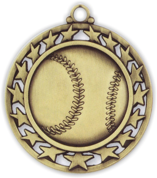 "2-1/2"" Baseball Medallion - SSM-1-NR"