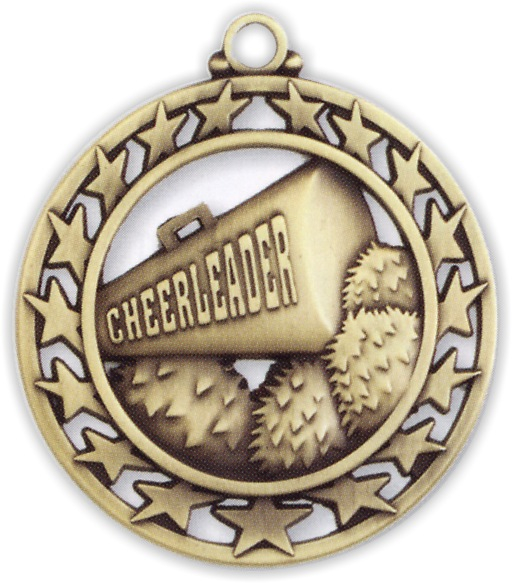 "2-1/2"" Cheerleader Medallion - SSM-10-NR"
