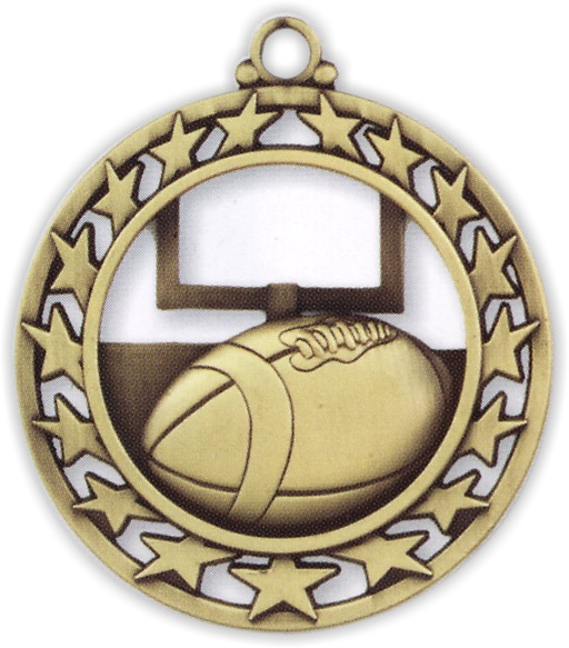 "2-1/2"" Football Medallion - SSM-13-NR"