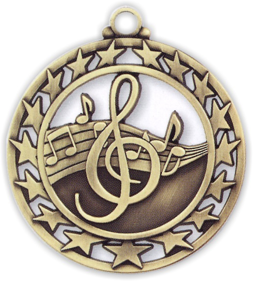 "2-1/2"" Music Medallion - SSM-20-NR"