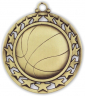 "2-1/2"" Basketball Medallion - SSM-3-NR"