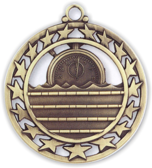 "2-1/2"" Swimming Medallion - SSM-31-NR"