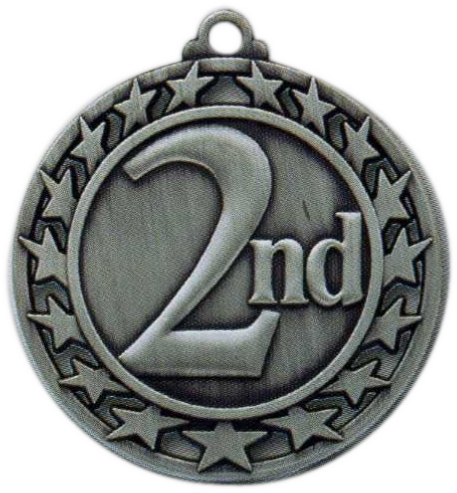 "2-1/2"" 2nd Place Medallion - SSM-62-NR"