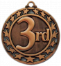 "2-1/2"" 3rd Place Medallion - SSM-63-NR"