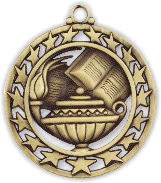"2-1/2"" Lamp of Knowledge Medallion - SSM-8-NR"