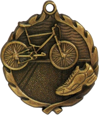 "1-3/4"" Triathlon Medallion - TRI32177-NR"