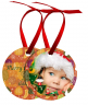 Round Aluminum Color Imprinted Christmas Tree Ornament - UN4170