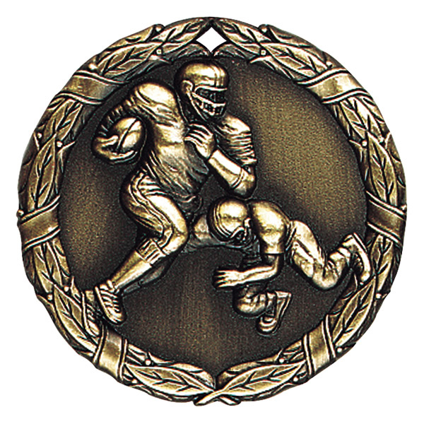 "2"" Football Medallion - XR-212-NR"