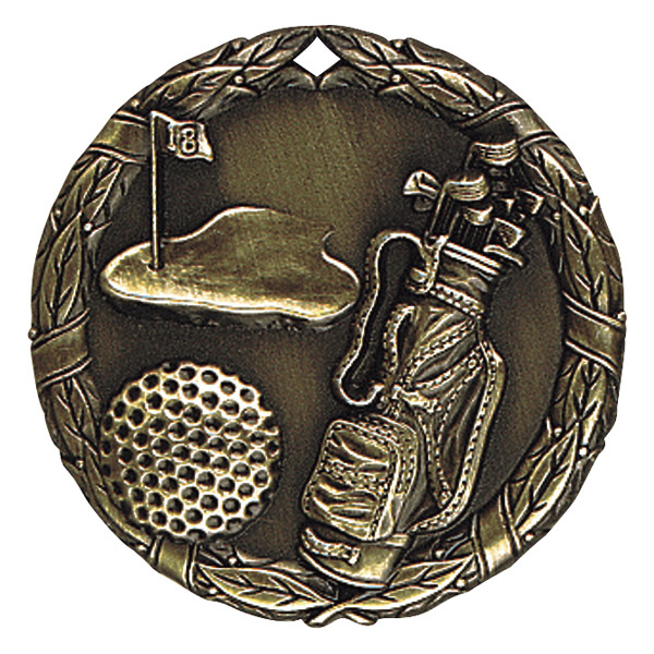 "2"" Golf Medallion - XR-228-NR"