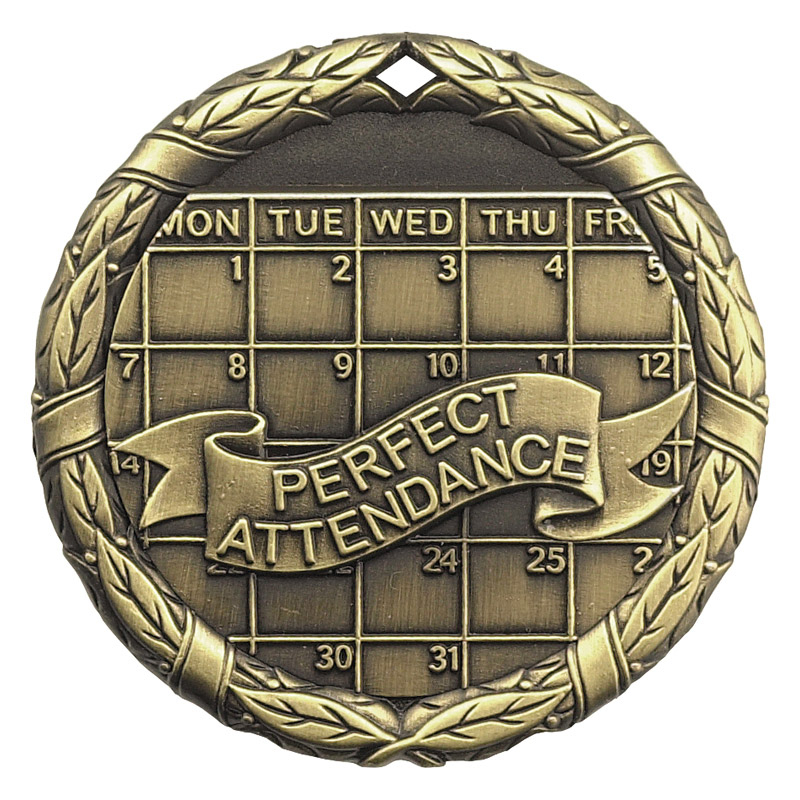 "2"" Perfect Attendance Medallion - XR-255-NR"