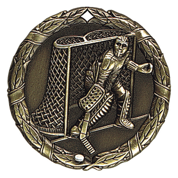 "2"" Ice Hockey (action) Medallion - XR-271-NR"