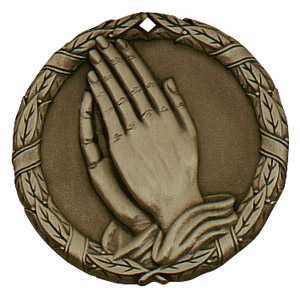 "2"" Praying Hands Medallion - XR-277-NR"