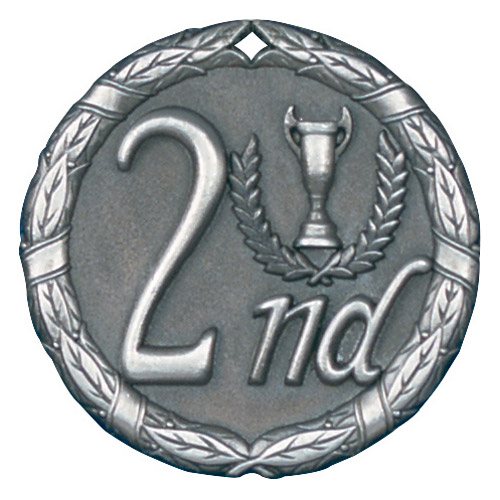 "2"" 2nd Place Medallion - XR-282-NR"