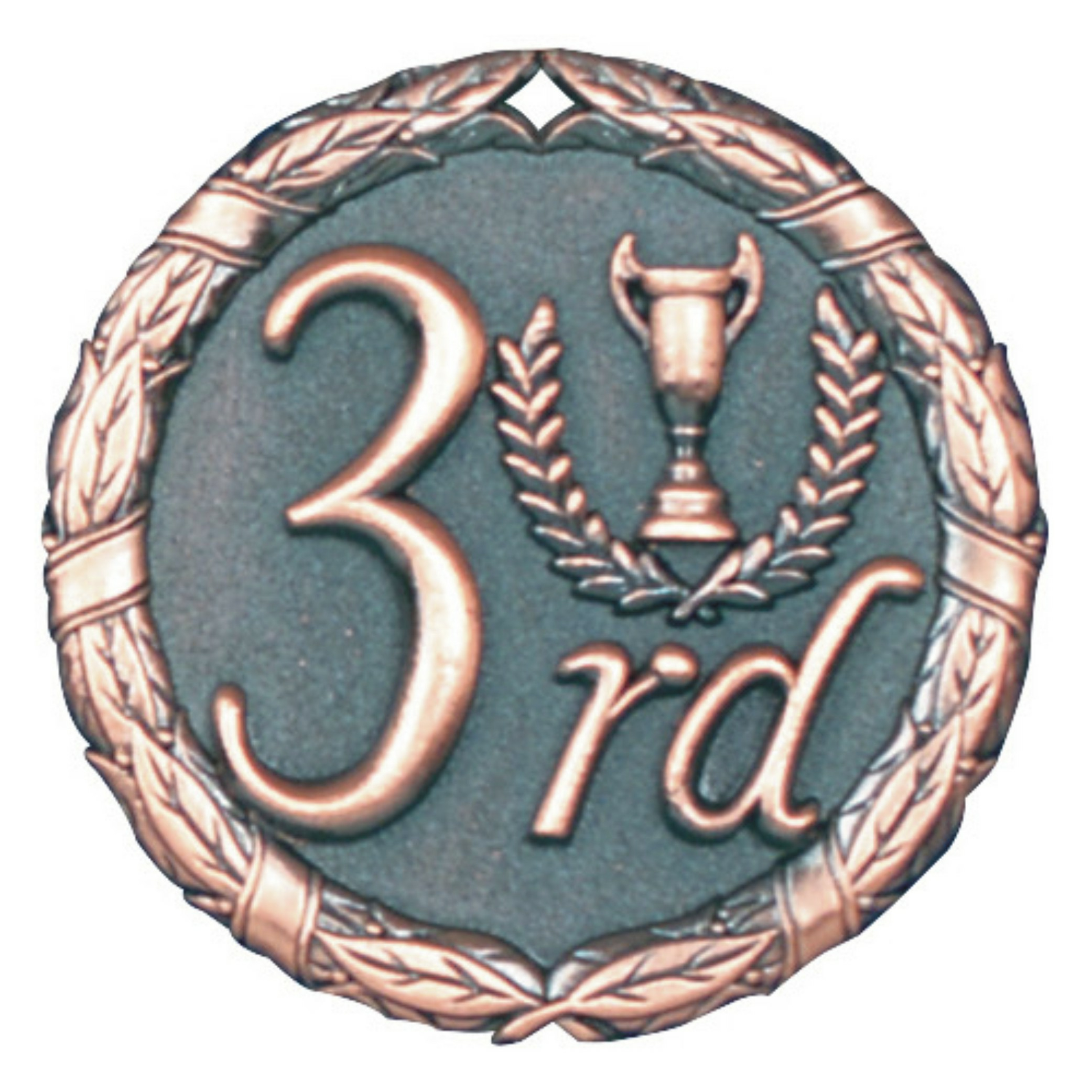 "2"" 3rd Place Medallion - XR-283-NR"