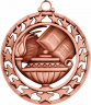 "2-1/2"" Lamp of Knowledge Bronze Medallion - SSM-8-NR"